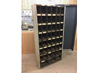 Vintage industrial engineers pigeonhole unit