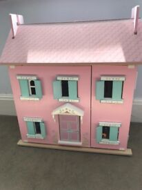 Dolls House with furniture, light use marks only