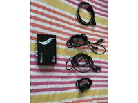 4 port usb switch with 4 usb-a to usb-b cables