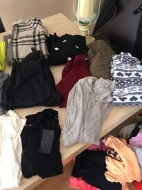 Bundle of 25 jumpers and cardigans