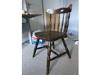 Vintage Dark Wood Chair