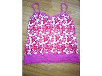Women's floral strappy top size 14