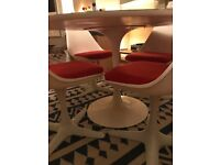 Arkana tulip dining table and four chairs