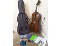 Stentor Student 2 Cello 4/4 full size very good condition with padded cases and extras