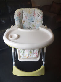 Cosatto foldable high chair in used condition