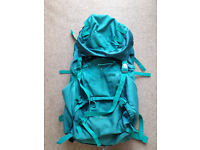 Teal coloured rucsac. Fully padded with back support