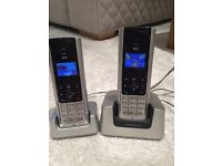 BT freestyle silver home phones x2