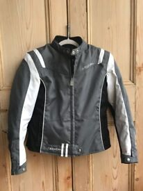 Women's Motorcycle Jacket - All weather UK Size10/12 - With Armor Protection & Quilt lined