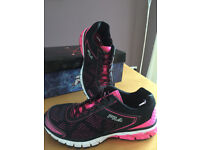 Pair of Fila Ladies Trainers Size 6.5