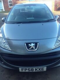 SOLDPeugeot 207 1.4 petrol Monaco edition. MOT till August full leather interior with red stitching.