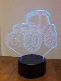 3-D Effect Tractor Light - Multi colours with USB cable