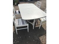 Upcycled Gateleg Table and 4 Chairs