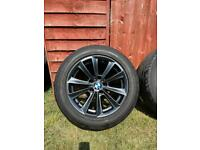 Genuine BMW 17 inch alloy wheels and tyres