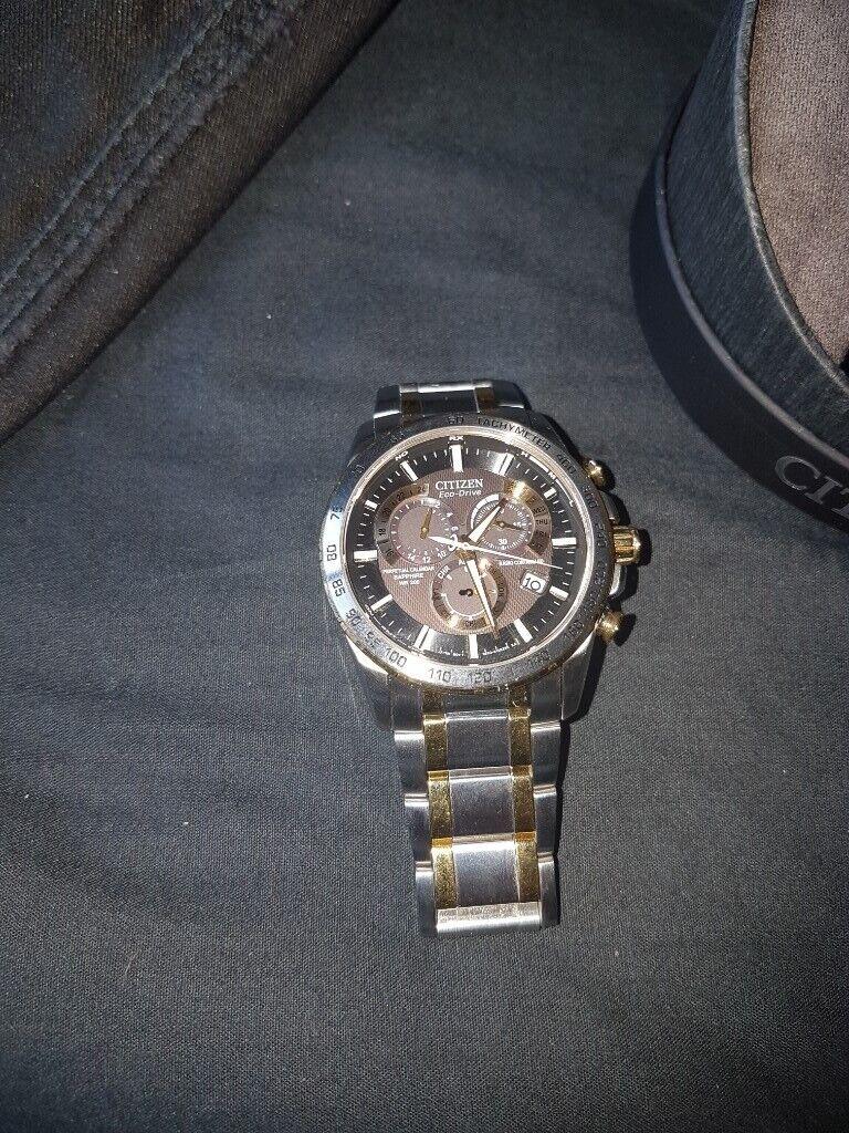 dcdc9597a Mens Citizen Chrono Perpetual A-T Alarm Chronograph Radio Controlled Watch  AT4004-52E