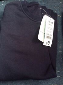 Boys navy school jumper aged 10-11 years AS NEW WITH TAGS