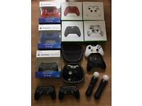 Brand New controllers for Xbox one and PS4 also second user including Elite and Move prices from £24