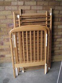 Wooden baby cot,