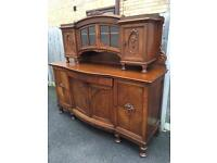 Large antique solid oak Dresser with possible delivery