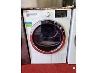 Ex-display BEKO 9kg white heatpump tumble dryer with 12 months warranty
