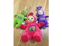 Toy Bundle Plush Teletubbies - One Big (Po) Two Talking - in Excellent Condition 🤗
