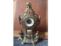 Vintage Brass Mantel Clock, West German