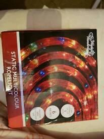 Brand new Christmas multi coloured rope lights