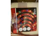 Brand new Christmas multi coloured rope lights