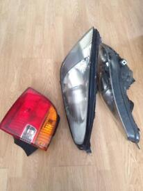 Toyota celica 1992 front headlights and one drivers side back light
