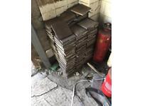 Used brown tiles