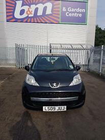 Peugeot 107 (not c1 not aygo) 2009 5 door black. Choice of 2. Black 2009. Silver 2011
