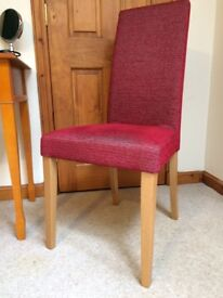 John Lewis red upholstered chair