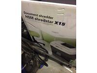 HSM shredder x15 document shredder cd shredder