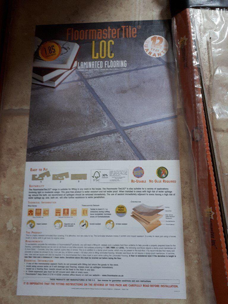 Cream Beige Natural Floormaster Tile Loc Laminated Flooring