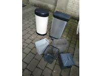 Pedal and press bins waste paper catering recycling bins central London