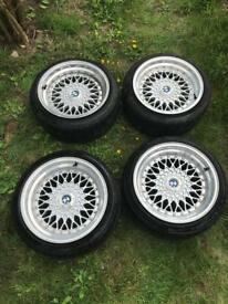 BBS replica alloys 4x100, 9x16 ET20c Toyo T1R Proxes