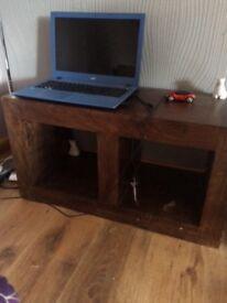 Dakota dark solid wood living room units