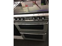 NEWHOLME 60CM CEROMIC TOP ELECTRIC COOKER IN SILIVER