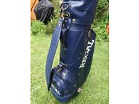Left handed set of Regal clubs in matching bag