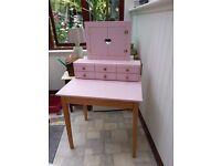 Desk with vanity unit