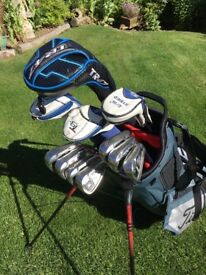 Full set of John Letters TR47 driver, T9+ hybrids and irons.