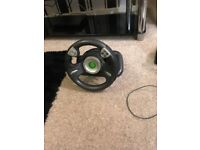 Xbox 360 steering wheels x2 and foot pedals