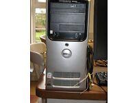 DELL DIMENSION E520 PC / SCREEN / KEYBOARD / SPEAKERS/ WEBCAM / NETGEAR