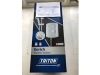 Triton 8.5KW white instant shower, bought by mistake, opened but unused and boxed