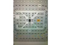 Anthony Joshua V Joseph Parker EXCELLENT SEATS BLOCK B4 (2 Tickets) 31.3.18 CARDIFF