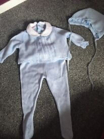 Baby Spanish 3 piece knitted outfit set