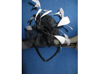 Fascinator,M & S gorgeous feather & mesh,good condition