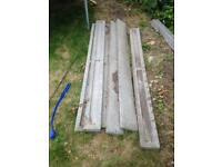 7 x concrete plinths for 6x6 fence panels good condition sensible offers