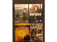 4 DVD's, withnail & I, serpico, down the rabbit hole, and mike Leigh's naked
