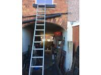 13ft aluminium ladder solid & sturdy £20