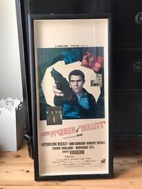 Vintage 'Bullitt' Movie Poster Steve McQueen